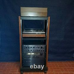 Amplificateur Stéréo Vintage Heathkit Des Années 1970, Accordeur, Préamplificateur+platine+armoire