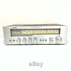 Amplificateur Stéréo Vintage Rotel Tuner Récepteur Rx -203 Testé Works