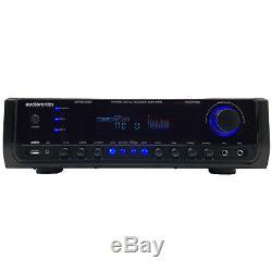 Audioronics 1500w Amplificateur De Puissance Intégré Préamplificateur Bluetooth Accueil Récepteur