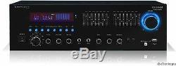 Bluetooth 1500 Watt Numérique Ampli Stéréo Amplificateur Récepteur Usb Entrée Carte Sd