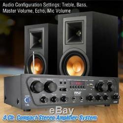 Bluetooth Amplificateur Audio, 4-ch. Source Audio Stéréo Récepteur Système, Pta42bt