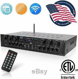 Bluetooth Audio Puissance 600w Amp Amplificateur Stereo Home Cinéma Récepteur De Système