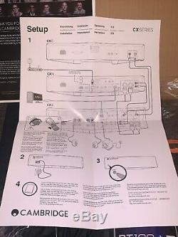 Cambridge Cxa60 Amplificateur Stéréo Intégré Noir, Boxed + Bt100 Récepteur Audio