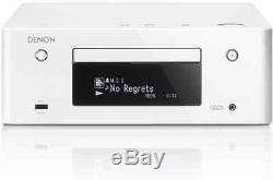 Denon Ceol Rcd-récepteur N9 + Lecteur Réseau Blanc Neuf Garantie