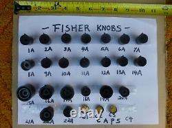 Fisher Knob, Cap, Sold Each, Récepteurs, Amplificateurs, Préampli, Accordeur, Original