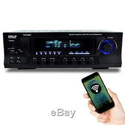Hybrid Stereo Bluetooth Pyle Amplificateur Récepteur Am / Fm Usb / Sd Aux MIC Entrées