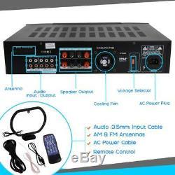 Hybride Bluetooth Home Cinéma Préampli Amplificateur Stéréo Récepteur Audio Système Mp3