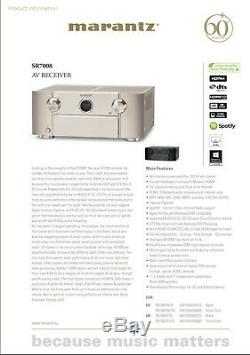 Marantz Sr7008 9.2 Channel Av-récepteur En Noir Avec Audyssey Xt32 Pro