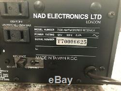 Nad Electronics Série Moniteur Récepteur Stéréo 7000 Manuel Withoperator Testée
