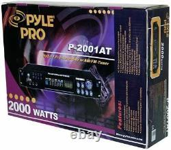 New Pyle 2000 Watts Accueil Récepteur Stéréo Préamplificateur Rca Am / Fm Aux-in Et À Distance