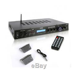Nouveau Pyle Pda7bu Amplificateur Home Cinéma Récepteur Audio Système Audio Avec Bluetooth