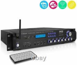 Nouveau Récepteur Stéréo À Domicile Pyle 2000 Watts Pré-amplificateur Am/fm Rca Aux-in & Remote