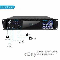 Puissance 1000w Bluetooth Audio Amplificateur Stéréo Récepteur Sans Fil Microphone