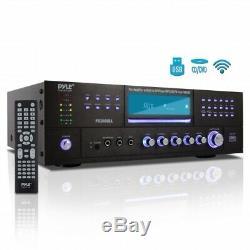 Pyle Bluetooth 4.1 Canaux 3000w Am / Fm Stéréo Amplificateur DVD CD Usb / Sd