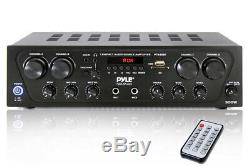 Pyle Bluetooth 4 Canaux Sans Fil Amplificateur Karaoke Récepteur