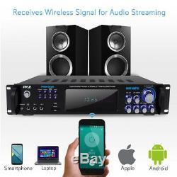 Pyle Bluetooth Amplificateur Récepteur Et Système De Microphone Hybride Pré-amplificateur