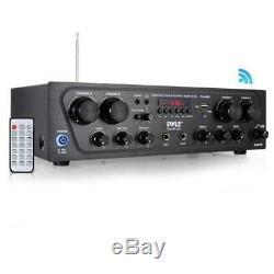 Pyle Bluetooth Audio Amplificateur, 4-ch. Source Audio Stéréo Récepteur 500 Watt