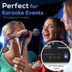 Pyle Bluetooth Home Cinéma Pré-amplificateur Avec Lecteur CD / DVD Système Usb Lecteur