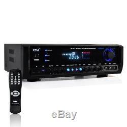 Pyle Bluetooth Home Stereo Récepteur Amplificateur Am / Fm Usb / Sd Aux MIC Entrées