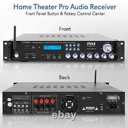 Pyle Bluetooth Hybrid Amplificateur Récepteur Home Theater Pré-amplificateur Avec Wirel