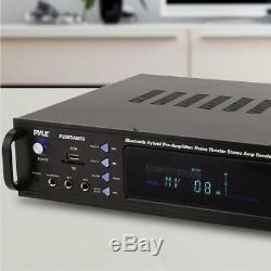 Pyle Bluetooth Hybrid Pre Amp Amplificateur Home Cinéma Récepteur Stéréo Usb Mp3 Fm