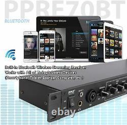 Pyle Bluetooth Rack Mount Pre-amplificateur Audio Receiver Usb/sd Recording & Remote