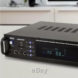 Pyle P2203abtu 2000w Bluetooth Hybride Pré-amplificateur Home Cinéma Récepteur Stéréo