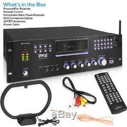 Pyle Pd1000bt 1000w Haut-parleur Stéréo Récepteur Audio, 4 Canaux Amplificateur Bluetooth