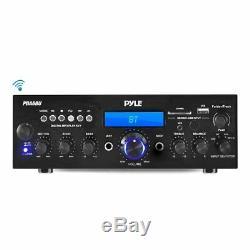 Pyle Pda6bu Usb / Carte Sd 200 Watts Bluetooth Stéréo Amplificateur Récepteur 2 Canaux