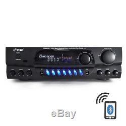 Pyle Pt265bt 200w Bluetooth Récepteur Amplificateur Am / Fm 2 MIC Entrées Karaoke