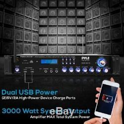 Pyle Pwma4001bt Multi-canaux Récepteur Stéréo, Système De Pré-amplificateur, 3000w