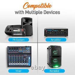 Pyle Pwma4004bt Pre-amp Bluetooth Hybrid Amplifier Receiver System Avec 2 Micros