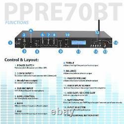 Pyle Rack Mount Studio Pre-amplificateur Audio Receiver System Withdigital LCD Disp