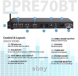 Pyle Rack Mount Studio Pre-amplificateur Système De Récepteur Audio Avec Displ Lcddigital