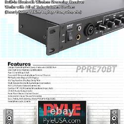 Pyle Rack Mount Studio Pre-amplificateur Système De Récepteur Audio Avec LCD Didigital