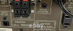 Récepteur CD Denon Silver Rcd-m33-s Made In 2005 Good Condition Fedex From Japan