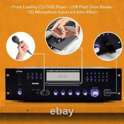 Récepteur D'amplificateur De 4 Canaux 1000 Watt Compact Rack Montage Home Theater Ste