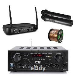 Récepteur Sans Fil Bluetooth, Système De Microphone, Fil Haut-parleur Pa, Karaoké, Dj
