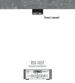 Réusiné Rotel Rsx-1057 Récepteur Av Garantie 3 Ans Livraison Gratuite