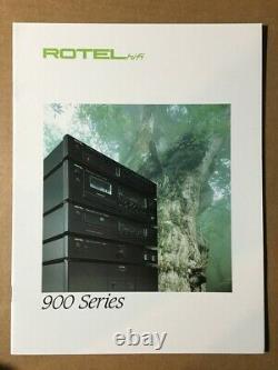 Rotel 900 Série Amplificateur Récepteur Preamp Brochure Originale
