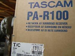 S / N0040079 Tascam Pa-r100 Réseau Av 5.2 3d / 4k Récepteur / Préamplificateur -new