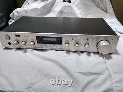 Sansui C-77 Stereo Pre-amplificateur Multi-entrées Finition Argent As Is
