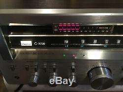 Sansui G 9700 Récepteur Amplificateur, Bois Cased Classique 200wrms 23 KG Beast