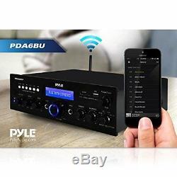 Son Stéréo Autour Pyle Bluetooth Amplificateur Home Cinéma Récepteur Compact