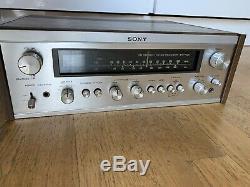 Sony Str-7035 Vintage 70s Hifi Récepteur Argent Amplificateur Amp