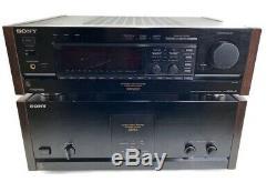 Sony Ta-n80es Amplificateur De Puissance Et Ta-récepteur E1000esd Vendu Ensemble