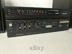 Technics Sa-x20l Amplificateur Fm / Mwithlw Récepteur Stéréo Et Haut-parleurs Son Rétro Douce