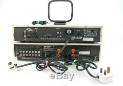 Technics Su-v5 Stéréo Intégré Amplificateur & St-s2l Radio Tuner Récepteur Argent