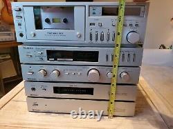 Tecnics Micro Series Stereo, 5 Pcstape Deck, Fm/am Tuner, Preamp, Amplificateur, Et
