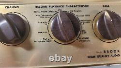 Ultra Rare Vintage Brook 4b Mono Tube Pré Amplificateur
